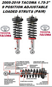 Rancho 9000 Adjustable Front Shocks - Struts For 05-20 Toyota Tacoma 2wd 4wd