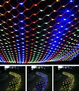 200 Led Fairy String Net Mesh Curtain Lights Waterproof Outdoor Home Party Decor