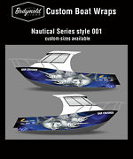 Premium Quality Boat Wrap. 6000mm X 700mm 2 Sides Nautical Series 001