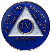 Recovery Mint 4 Year Aa Medallion - Tri-plate Four Year Chip/coin - Blue