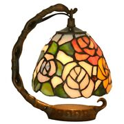 8in Mini Bells Mica Style Table Lamp Stained Glass Night Light For Bedroom