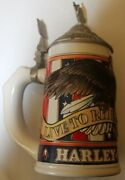"""Harley Davidson 1998 """"live To Ride, Ride To Live"""" Beer Stein - Nice"""