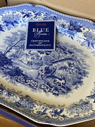 Spode Blue Room Aesopand039s Fables England Large Platter Oval Dish Rare New In Box