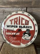 Vintage Trico Wiper Blades Advertising Thermometer