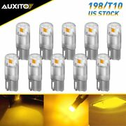 10x Amber Yellow T10 Led Dome Instrument Panel Light Bulb 194 W5w 168 Plate Lamp