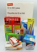 Large Assorted Office Supplies Lot Clips Pens Pencils Tape Staple Remover Glue