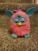 Furby Cotton Candy Pink Body Boom Interactive Toy Aqua Ears And Feet Purple Hair And