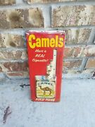 Vintage Metal Tin Camel Pack Thermometer Cigarettes Used Advertising