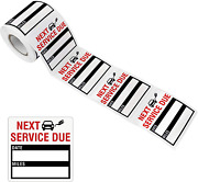 150 Pcs Oil Change Auto Maintenance Service Due Reminder Stickers Labels In Roll