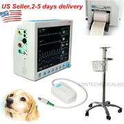 Veterinary Patient Monitor Vital Signs Icu Monitor,capnograph Co2, Stand,printer
