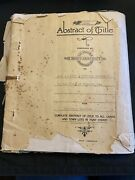 Vintage Complete Abstract Title To Lands Towns In Hunt County Greenville Texas