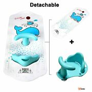 Anti Slip Baby Tub Seat Infant Toddler Safety Chair With Heat Sensitive Bath Mat