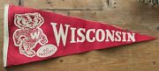 Awesome Vintage Wisconsin Badgers Felt Pennant