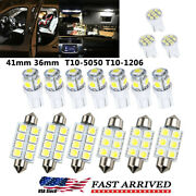 16x Led Interior Lights T10 Dome License Plate Light For Ford F150 Accesories