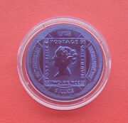 Gibraltar 2000 160th Anniv. Of The Uniform Penny Post 5 Pounds Titanium Coin