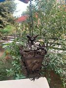 Vintage Rare Hand Forged Collectible Out Door Home Decor Hanging Ceiling Lamp
