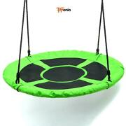 Tree Swing Outdoor Saucer Childrenand039s Playground Platform Nylon Rope 40inch - Rse
