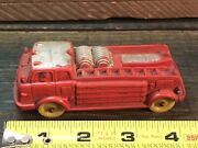 Vintage Auburn Rubber Toy Fire Truck Made In Usa