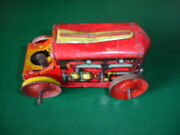 Vtg Rare Marx Toy Wind Up Lithograph Tin Tractor For Parts Or Repair