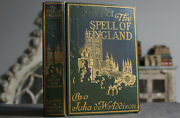 Rare Antique Old Book The Spell Of England 1913 Illustrated + Map Scarce Europe