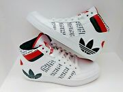 Unisex Youth Adidas Hard Court High Top Sneakers Size 4.5y Black/red/white