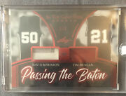 2020 Leaf In The Game Passing The Baton David Robinson/tim Duncan 1/3
