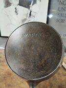 Fully Restored Wapak 8 Cast Iron Skillet Block Logo 10 Flat Seasoned Nice