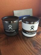 New Hydro Flask 10 Oz Insulated Whiskey Rocks Glass - Graphite Or White