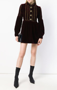 Saint Laurent - Ysl- Embellished Long-sleeve Dress- With Tags- Rrp 3995 Aud