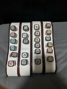 Mlb Replica Championship Rings Lot 22 Coors Light. Ring Displays Are Included