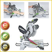 Compound Miter Saw W/ Laser Genesis 9 Positive Stops Clamp Dust 15 Amp 10 In New