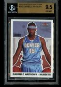 2003-04 Fleer Tradition Carmelo Anthony Rookie 263 Bgs 9.5 Gem Mint Rc Blazers