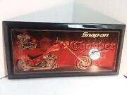 Snap-on Motorcycle Battery Powered Wall Clock