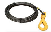 1/2 X 75and039 Winch Cable Steel Iwrc W/ Self Locking Swivel Hook Flatbed Tow Truck