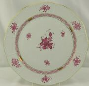 Herend Chinese Bouquet Red Raspberry 157 Round Chop Plate 11 5/8
