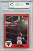 1986 Star 7 Michael Jordan Bulls Rookie Card Bgs Bccg 10 Mint+