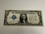 1 1928 One Dollar Usa Silver Certificate Bill Money Blue Seal Note Currency