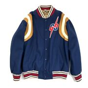 Wool Leather Varsity Jacket Gg Embroidered Size 44 Fits Xl Rrpandpound3400