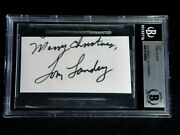 Merry Christmas Tom Landry Signed Cut Autograph Beckett Certified Auto Cowboys