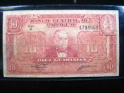 Paraguay 10 Guaranies 1943 P180 956 Bank Currency Banknote Money