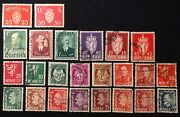 Lot Of 24 Postal Stamp From Norway - Norge