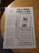 1938 Print Ad-tide Water Associated Oil Dealers-stamps Of West-conocophillips