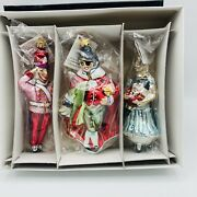Christopher Radko Nutcracker Suite 1andrdquo 1995 Set Of 3 Ornaments Sealed Packages