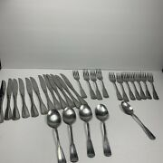 Northland Salad Stainless Silverware Flatware Korea Lot 28 Spoons Knives Forks
