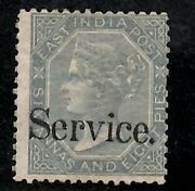 India Indian 1866 Qv 6a8p Unissued Mint Og Mh Sg O30b Andpound700 Rare