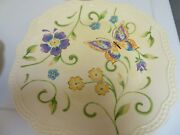 Pier One Imports Ironstone Botanica Butterfly Set Of 4 11 Dinner Plates