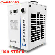 Us Stock Cw-6000bn Industrial Water Chiller For 30w-300w Fiber Laser Cooling