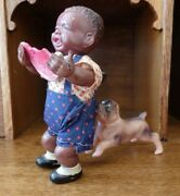 Rare Mint 1940's Vintage Made In Occupied Japan Poor Pete Celluloid Windup Toy