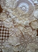 Vintage Lot 17 Farmhouse Wedding Baby Shower Lace Doilies Doily Table Runner