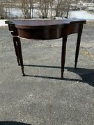 Antique Mahogany Game Card Table Flip Top Console Hall Table 1880